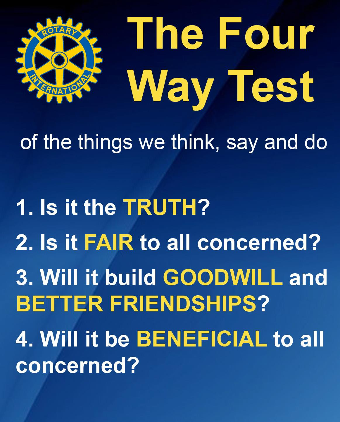 4 way test essay