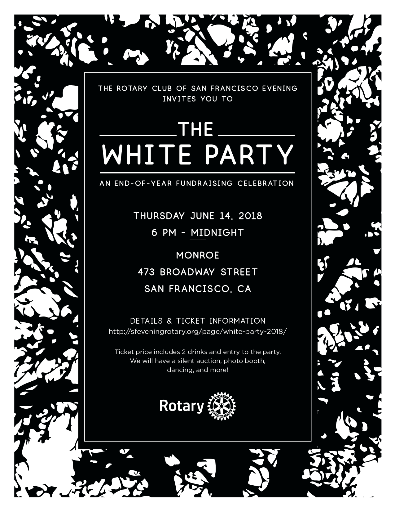 White Party 2018 | Rotary Club of San Francisco Evening