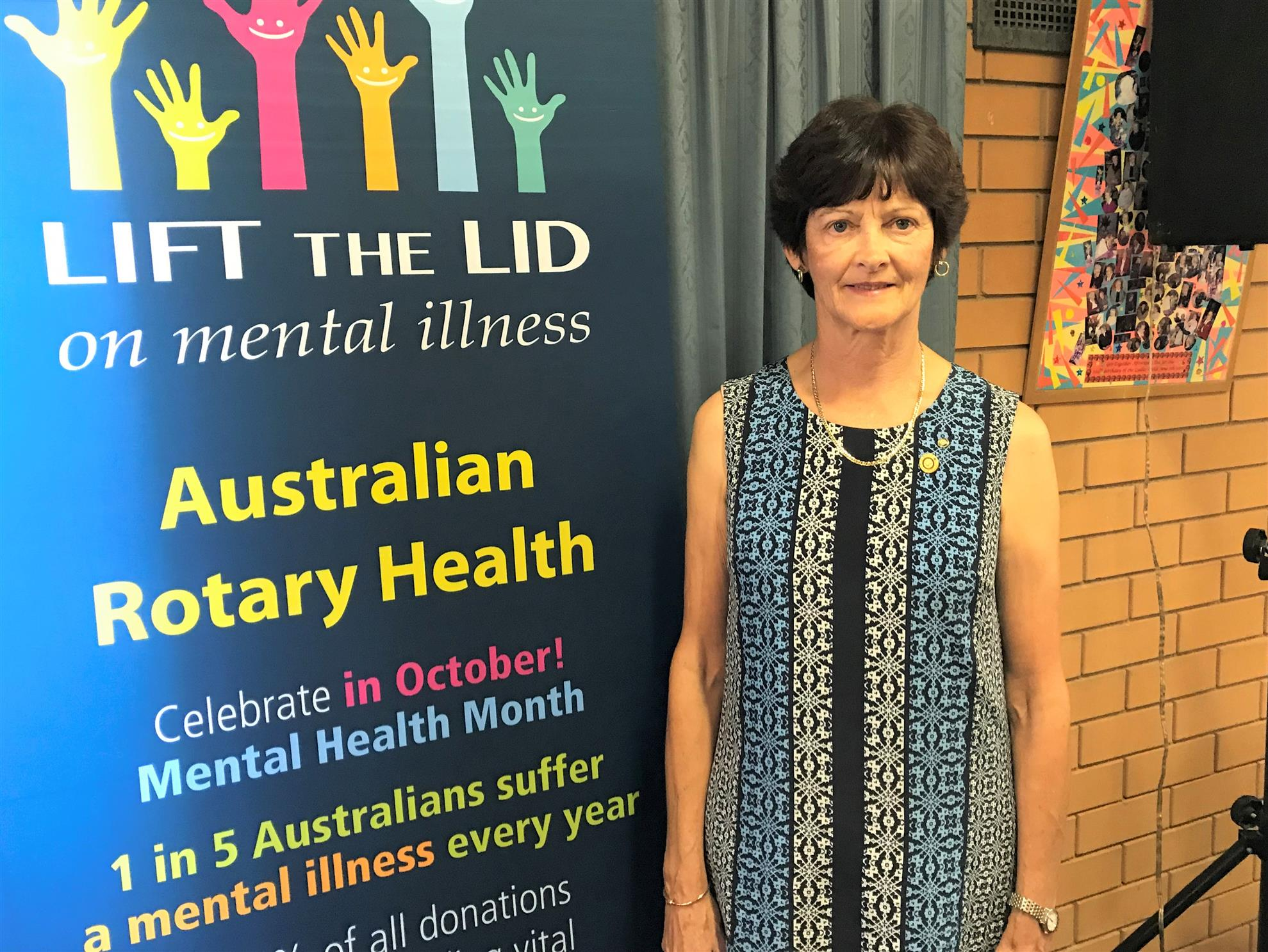e57a2af74bf1 Rosemary Freeman District representative on Australia Rotary Health was  guest speaker.