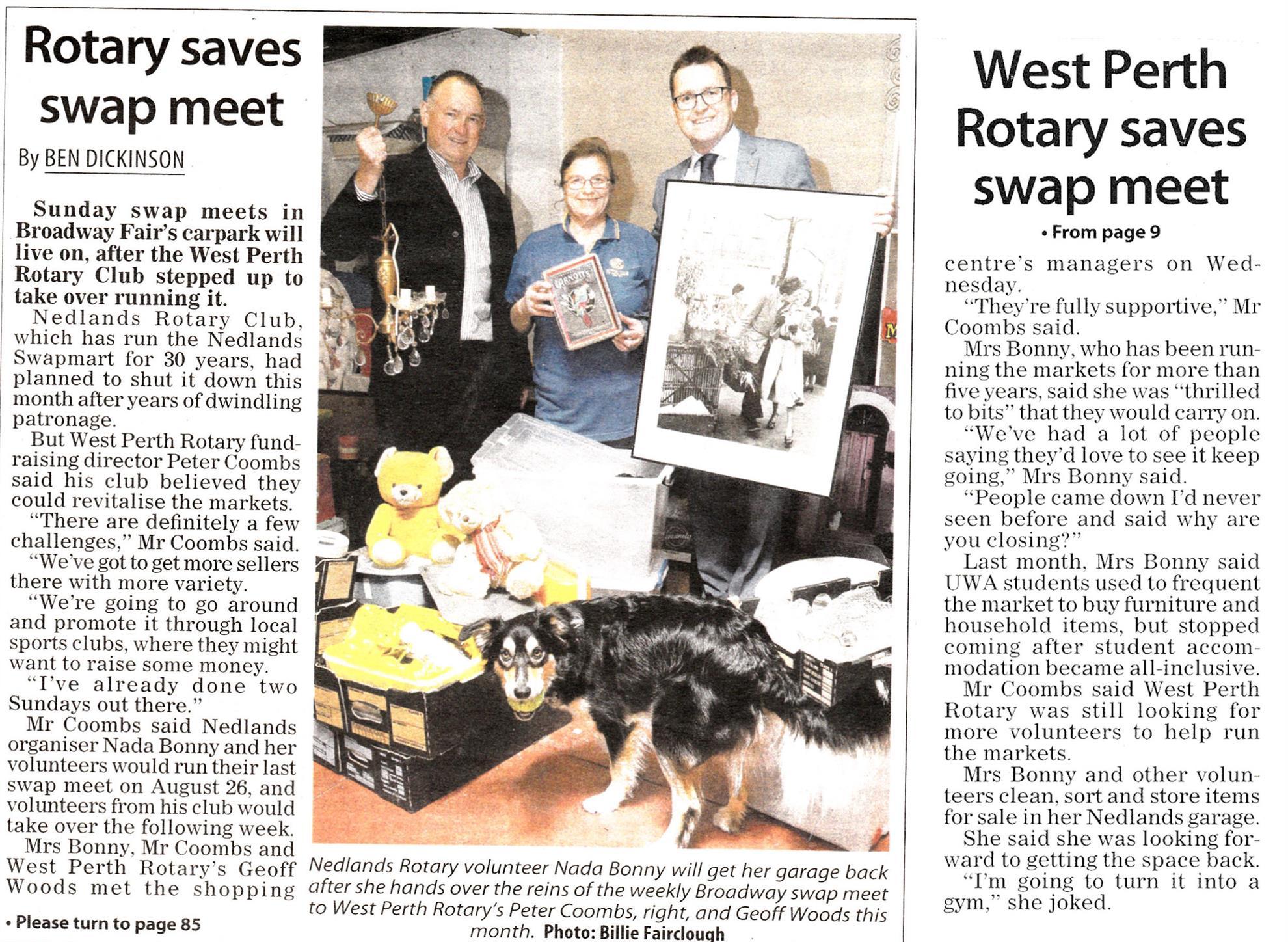 Broadway Swap Meet   Rotary Club of West Perth