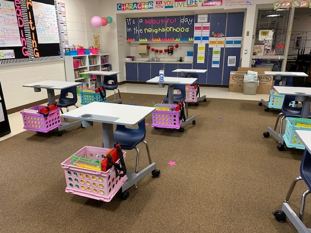 Desks in the Classroom