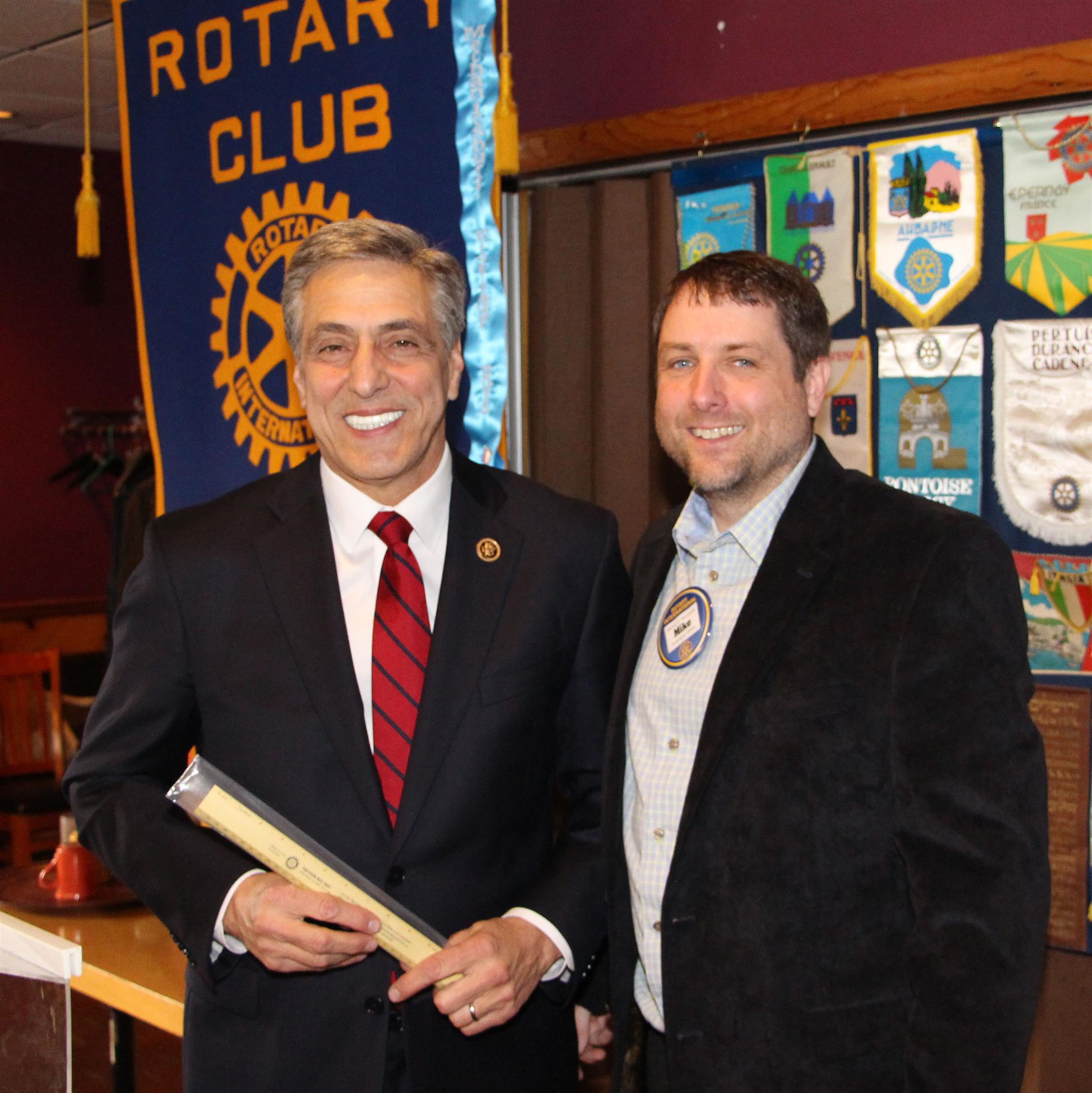 Congressman Lou Barletta Speaks to Club | Rotary Club of ...