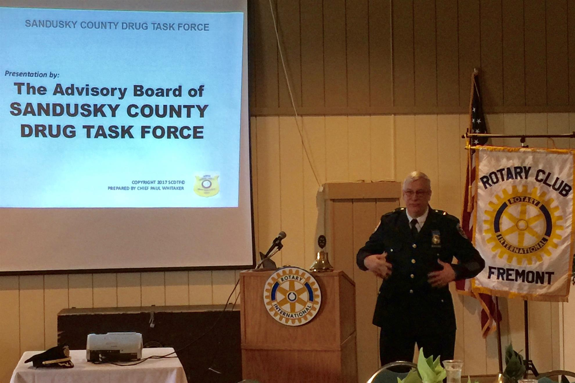 Whitaker speaks to Rotary on need for drug task force levy