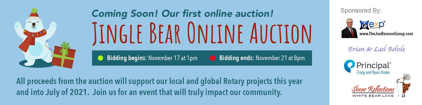 Jingle Bear Online Auction