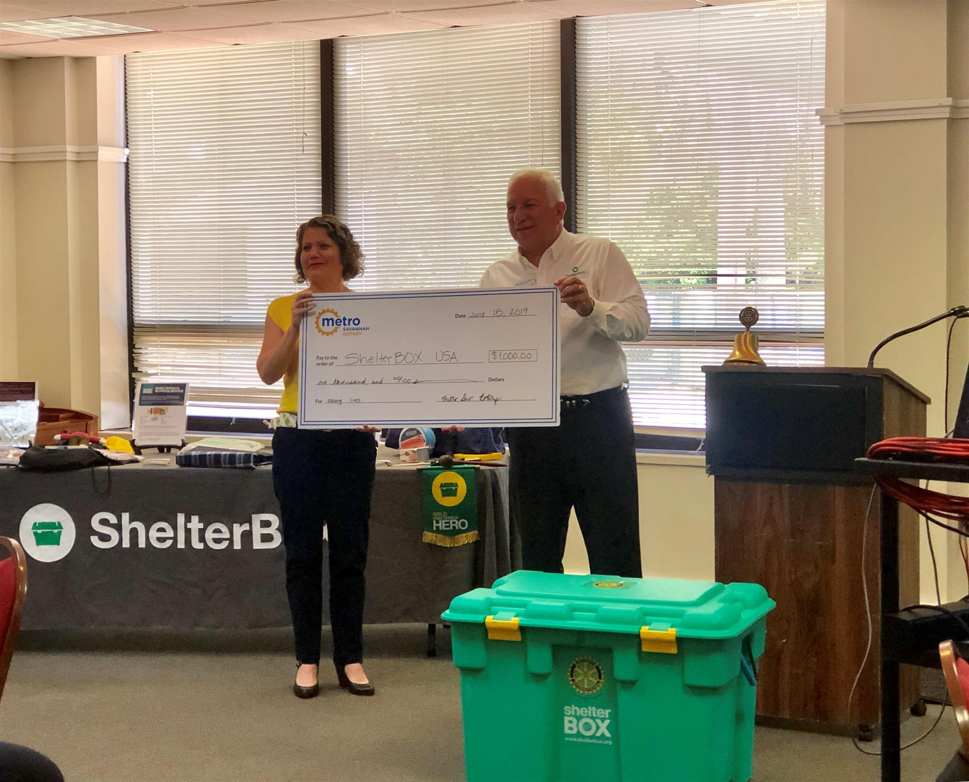 What is ShelterBox?   Rotary Club of Metropolitan Savannah