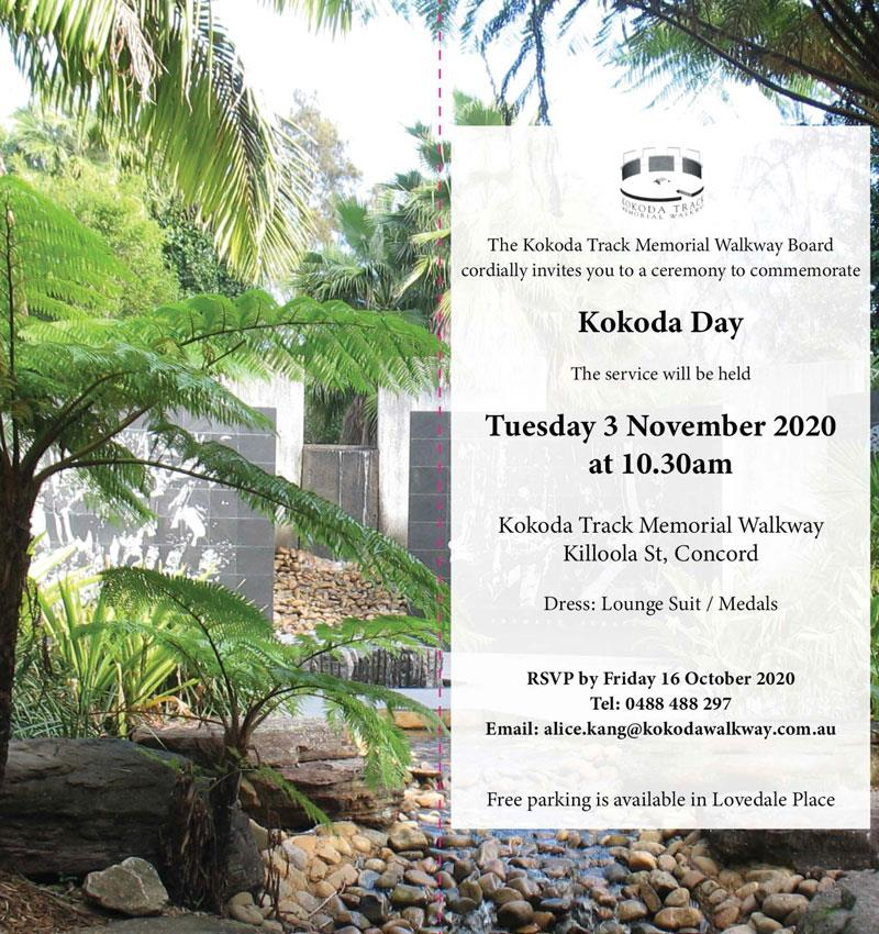 Kokoda Day flyer