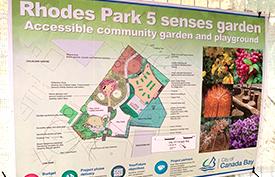 Rhodes Park 5 Senses Garden