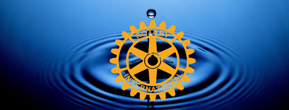 Water Drop behind Rotary Logo
