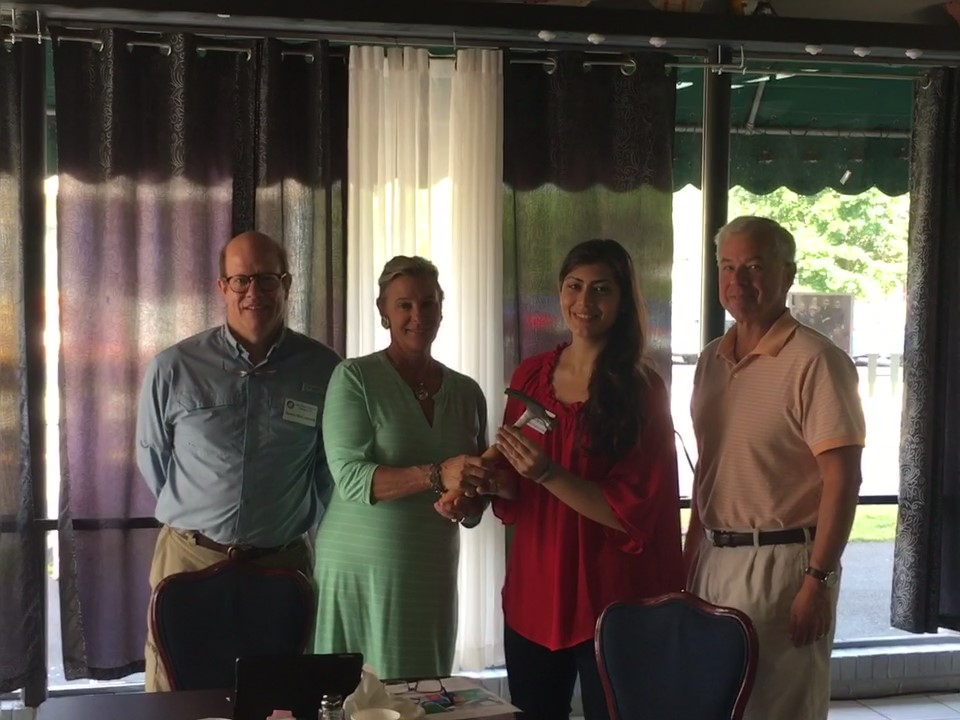 L-R, President Elect Jamie McConnell, Past President Adrianna Cowan, Current President Armina Manning, Current Secretary Bob Brockman