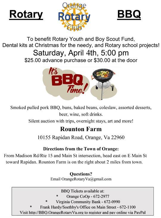 Rotary BBQ info