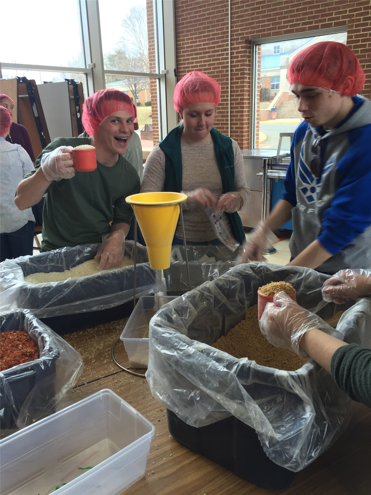 OCHS Students High Jinx Meal Packaging