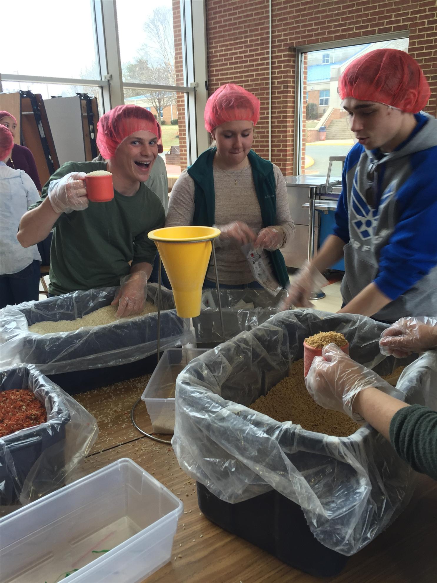 OCHS Students High Jinx Meal Packaging