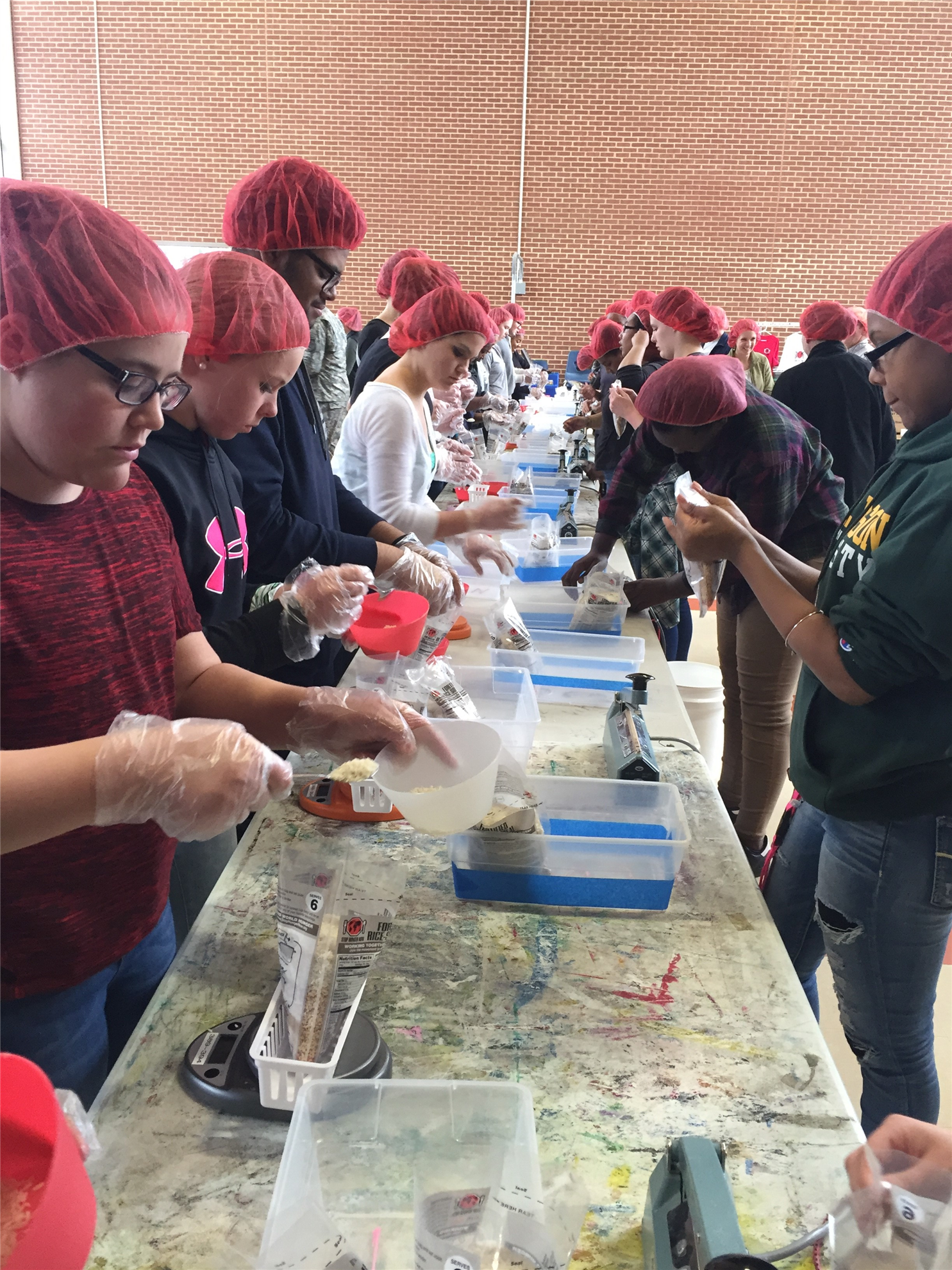 Rise Against Hunger Meal Packaging Event