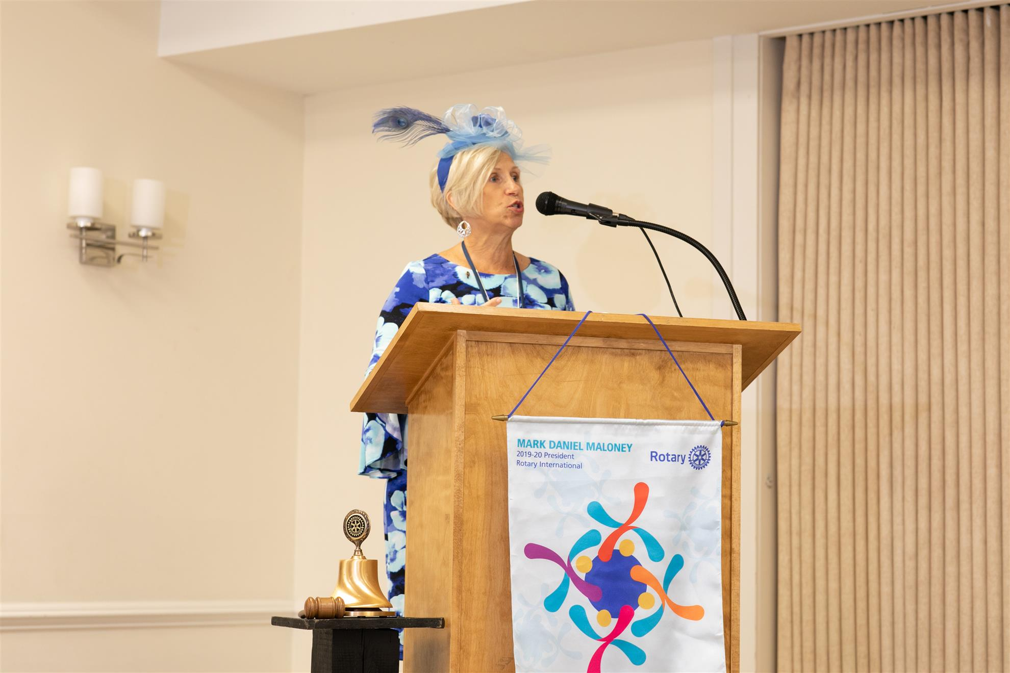 President Sue Totty presented her plans and vision for the 2019-2020 Rotary Year