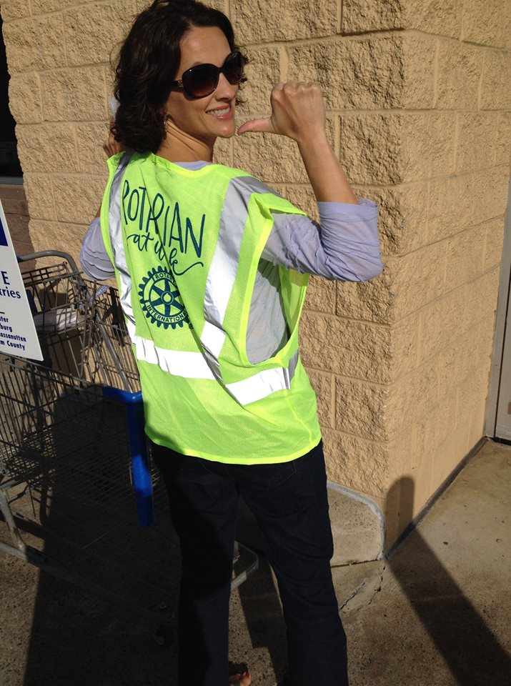 One Great Day of Sharing: Rotarian Jeannette happy with shoppers' donations