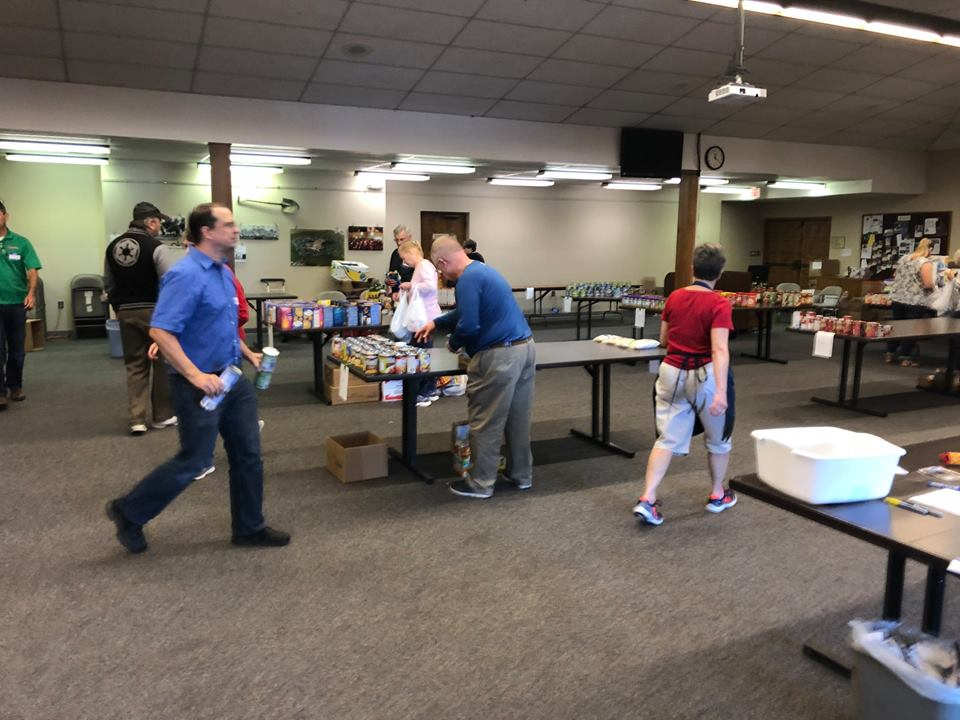 One Great Day of Sharing: Sorting the food for the area food pantries