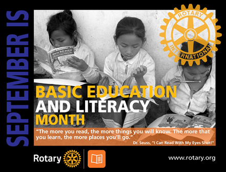Rotary Basic Education and Literacy Month