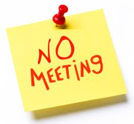 NO meeting Canterbury Anniversary Day