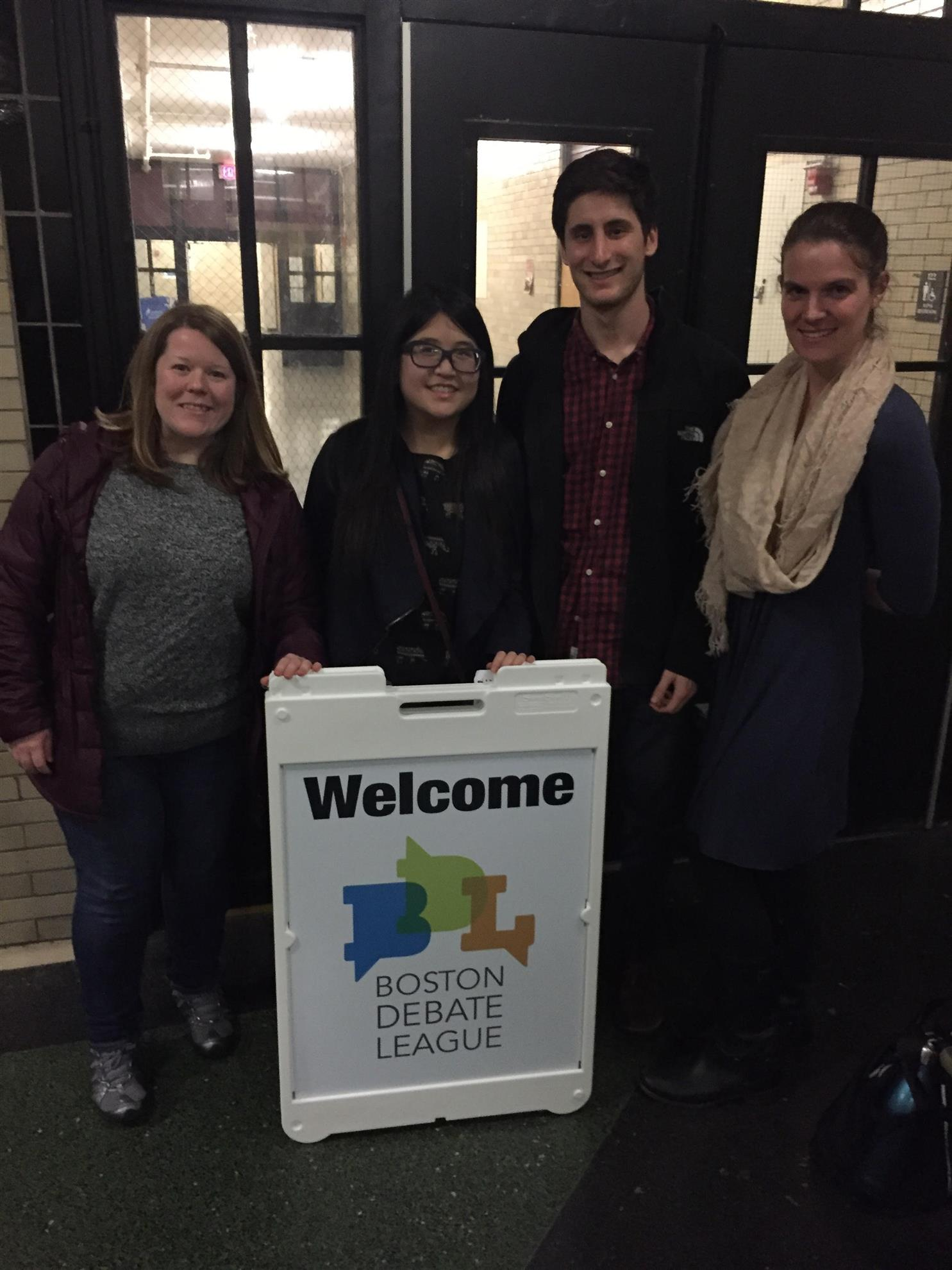 Rotaract members volunteer for the Boston Debate League.