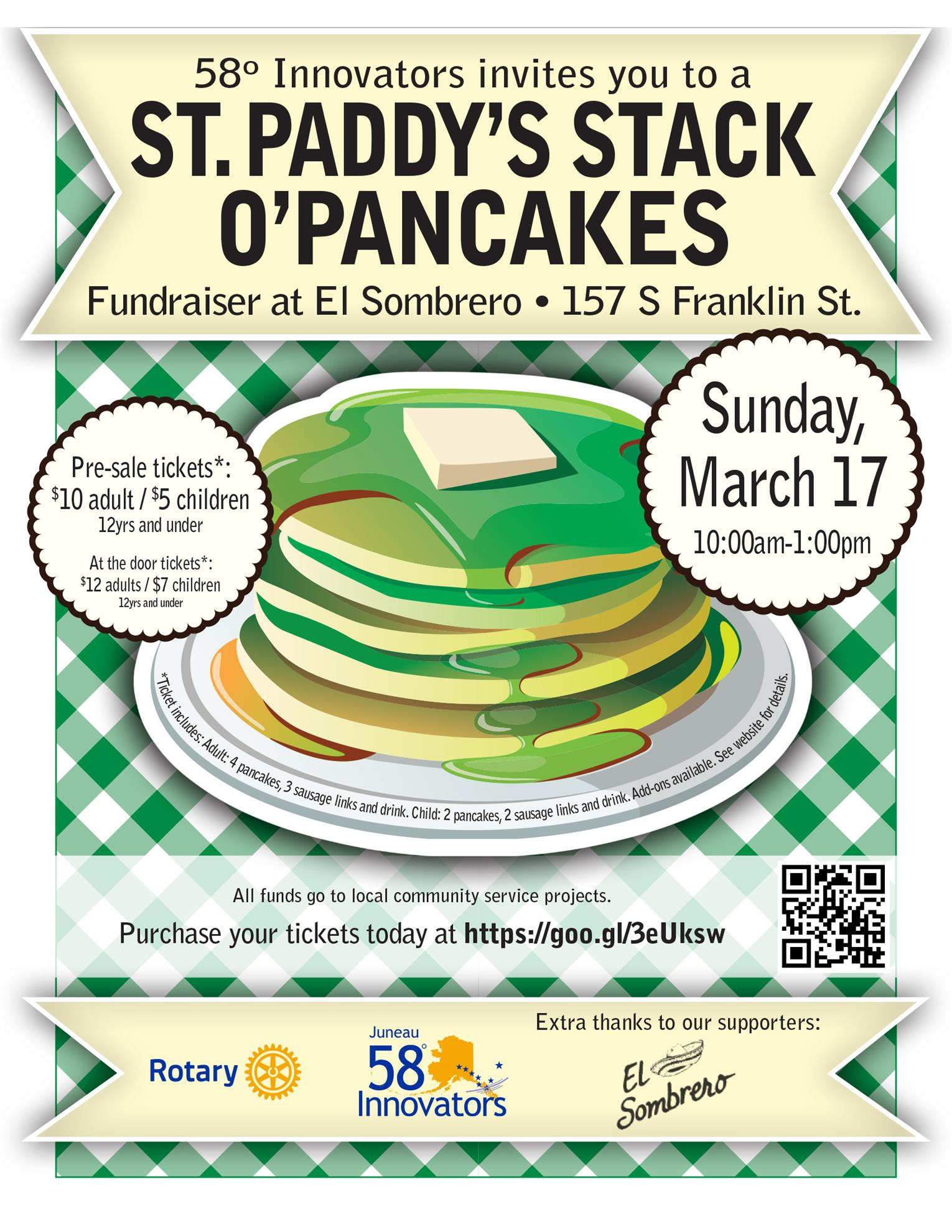 St. Patty's Pancake Fundraiser!!!