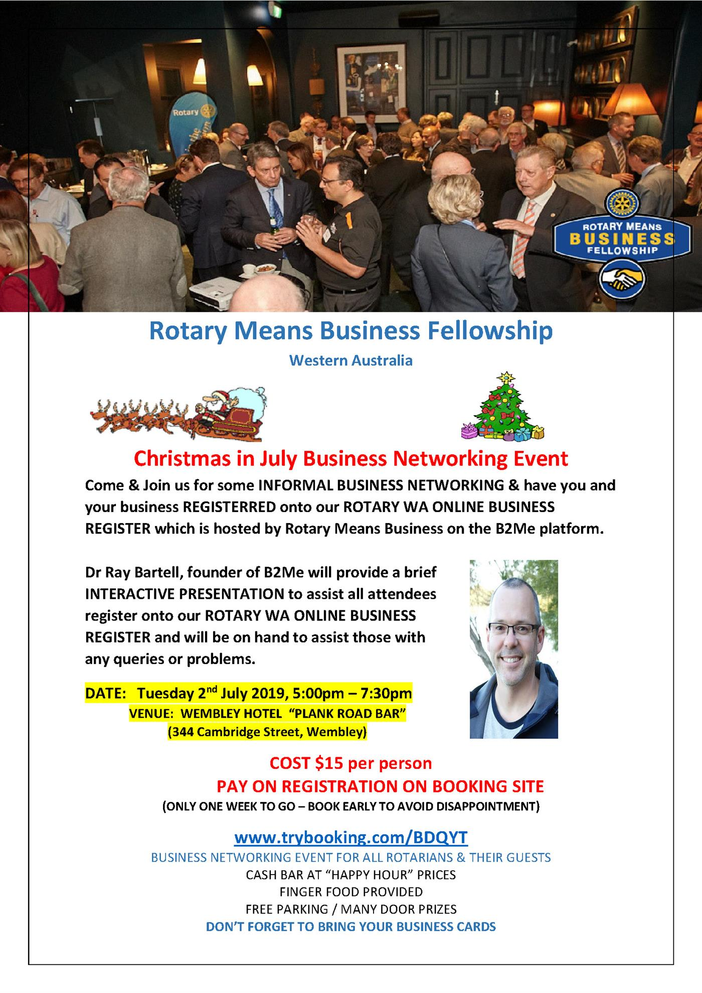 Christmas In July Australia 2019.Rotary Means Business Christmas In July Rotary Club Of Perth