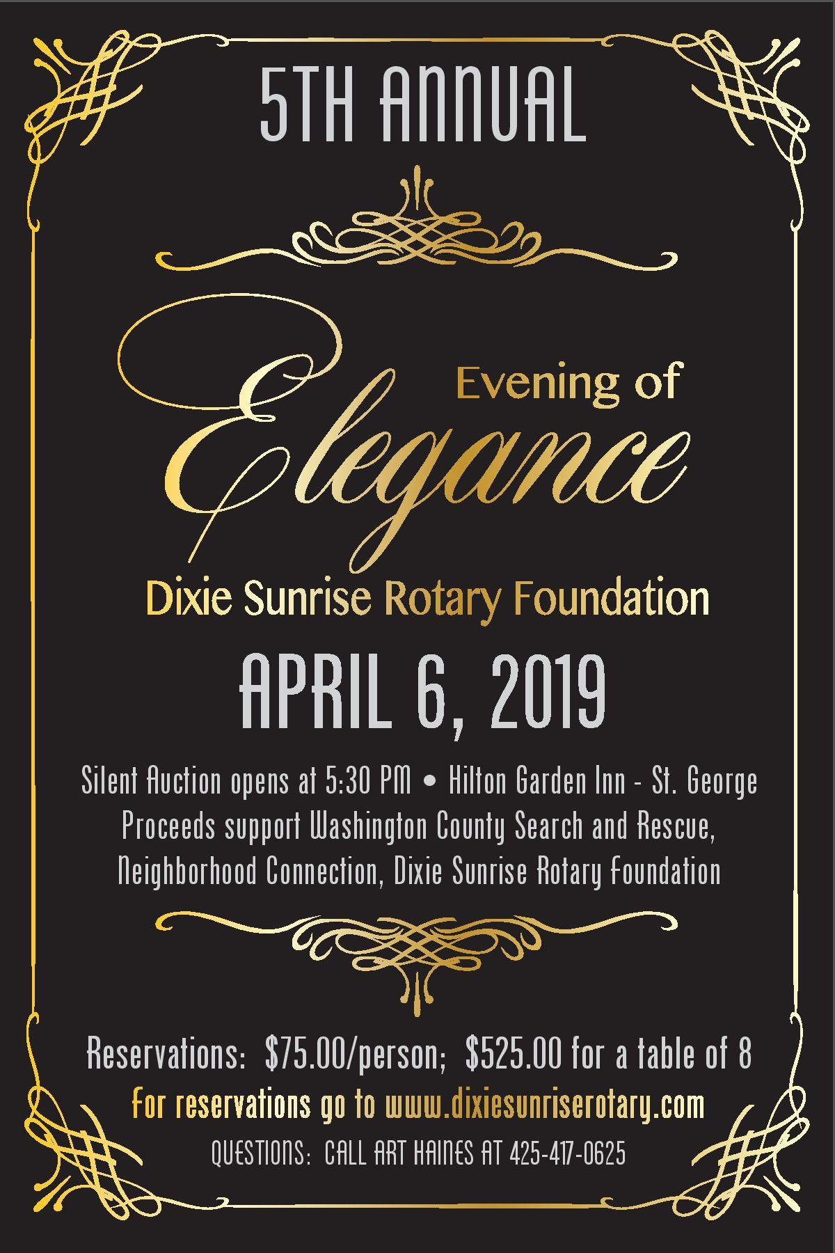 Dixie Sunrise Rotary 2019 Evening of Elegance