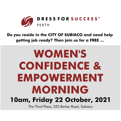 Dress for Success charity in Subiaco Western Australia