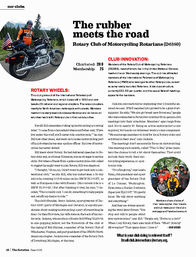 Home Page | Rotary Club of Motorcycling Rotarians