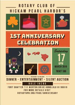 Anniversary celebration rotary club of hickam pearl harbor anniversary celebration invitation stopboris Choice Image