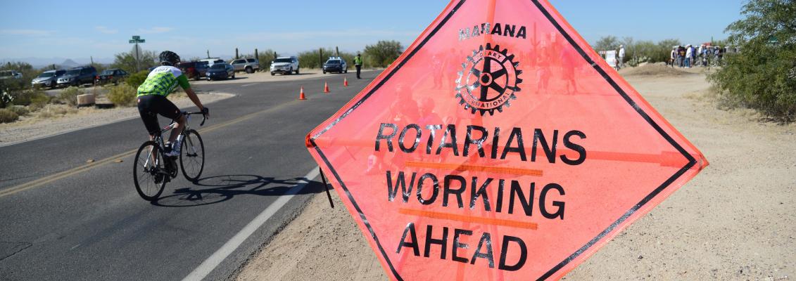 Rotary Club Members Working Ahead
