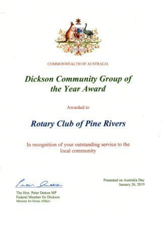 Dickson Award