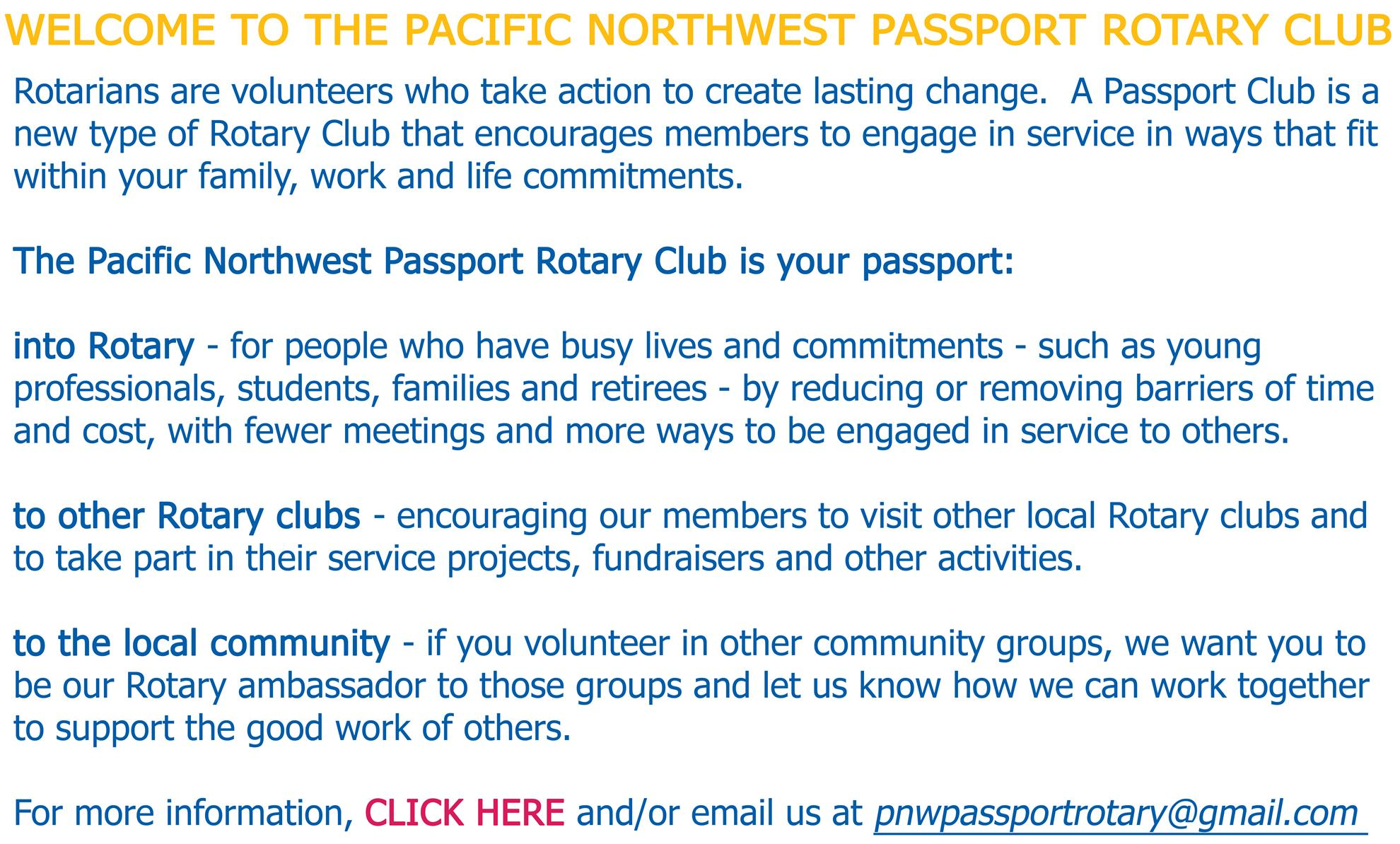 Home Page | Pacific Northwest Passport Rotary Club of D5050