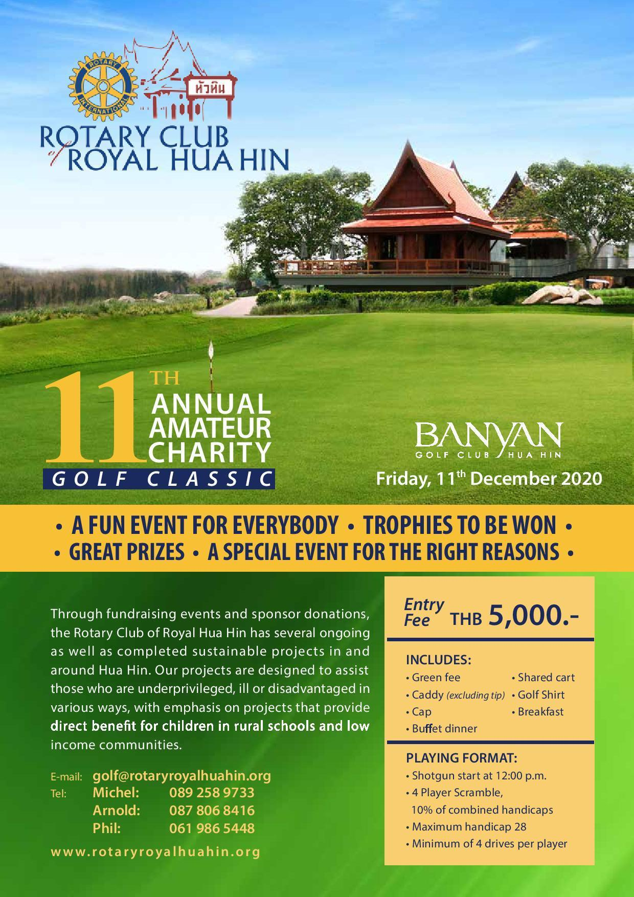 Poster 11th Amateur Charity Golf Classic