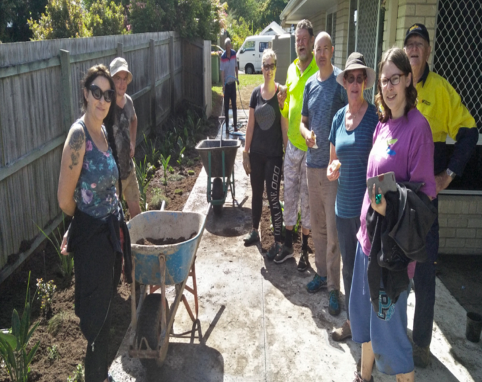 Volunteers at Care Garden
