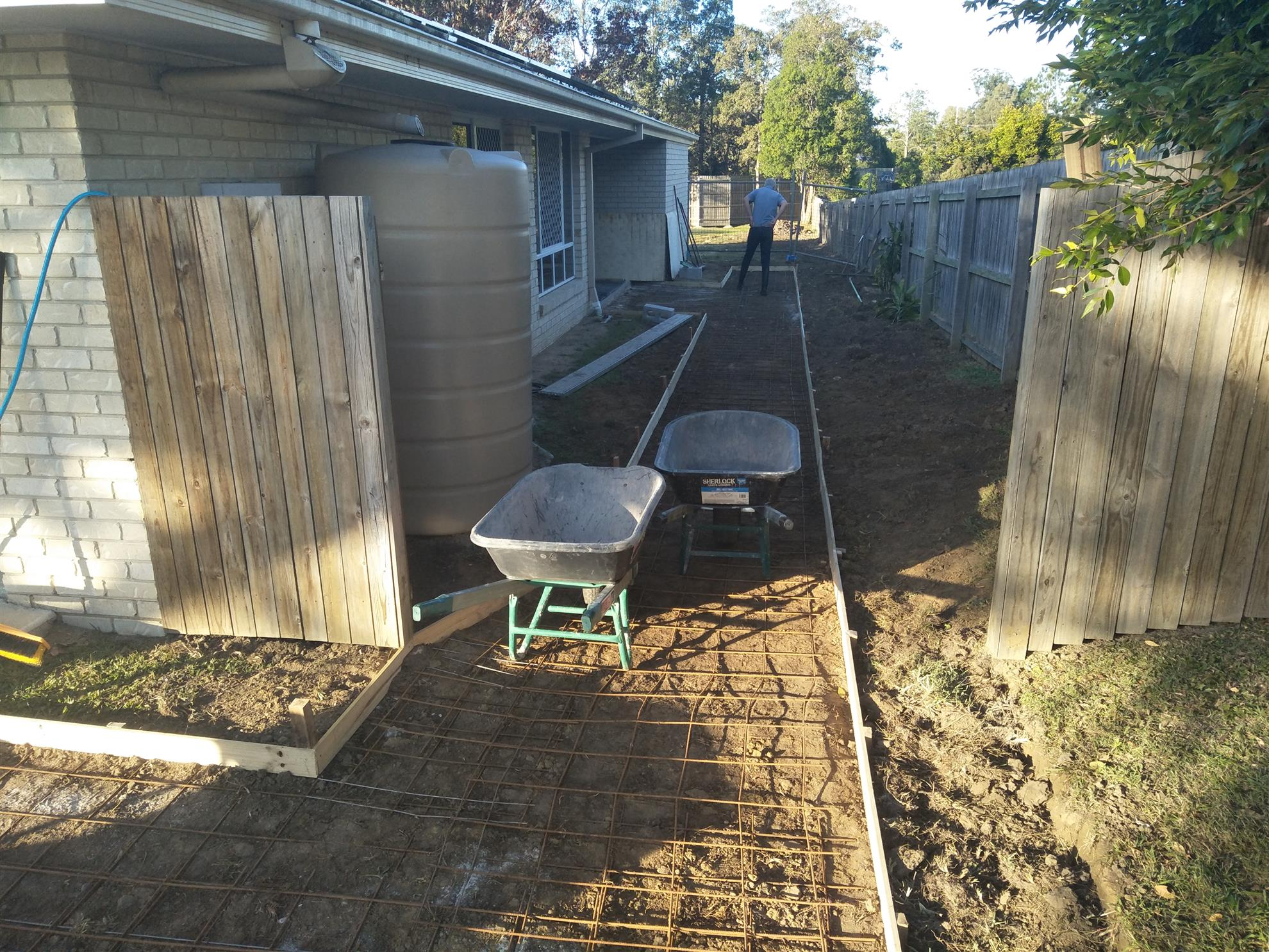 Waiting for concrete....