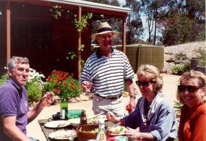 Open Day at the Corinaldi farm near Heathcote: (L-R) Rod Corinaldi, Richard Pope, Margaret Pope, Christine Wigg.