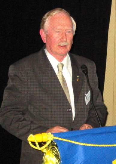 Peter Lyall, the only remaining Charter Member. Peter was the guest speaker for the night. He gave all present the opportunity to wander down Memory Lane with a overview of the Club's history and past achievements.