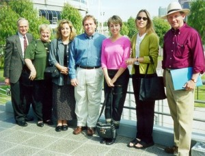 Hosting April 2000 Group Study Exchange Team from District 6800, Mississippi Tennessee: (L-R) Brian Young, Anne Young, Courtney Bressack, Keith Shaffer, Lindsey Estes, Stella Connell, Billy Hooper (Team Leader).