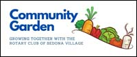 Rotary Club of Sedona Village Community Garden logo