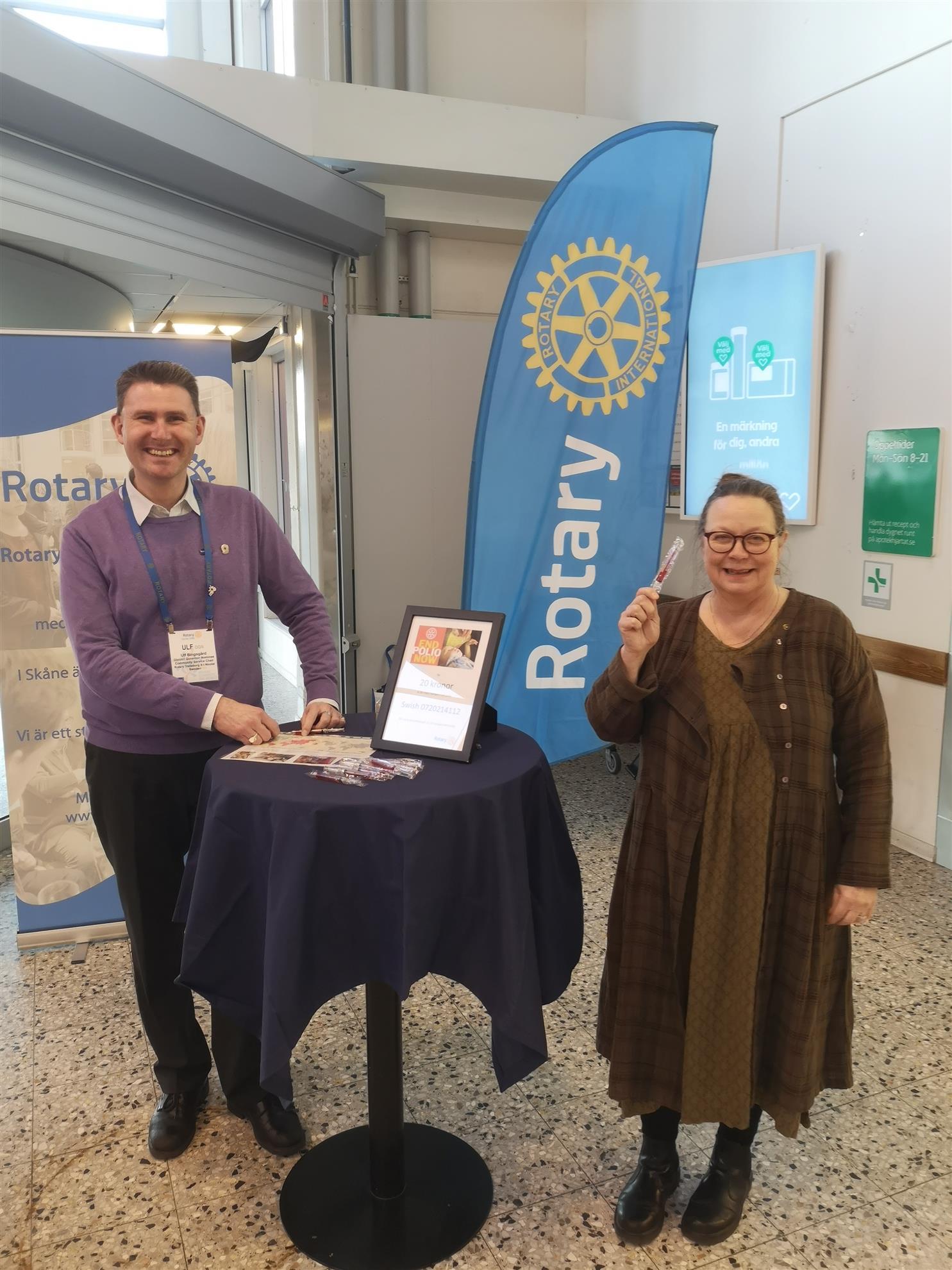 Ulf och Ylva Kristina redo för att End Polio Now