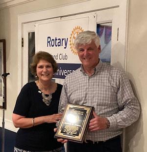 Ed Duryea, Sea Island Rotarian of the Year for 2021