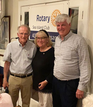 Cindy Duryea, Paul Harris Fellow for musical contributions and service to Sea Island Rotary