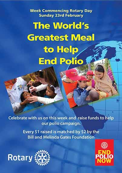World's Greatest Meal to Help End Polio | Rotary District 5040