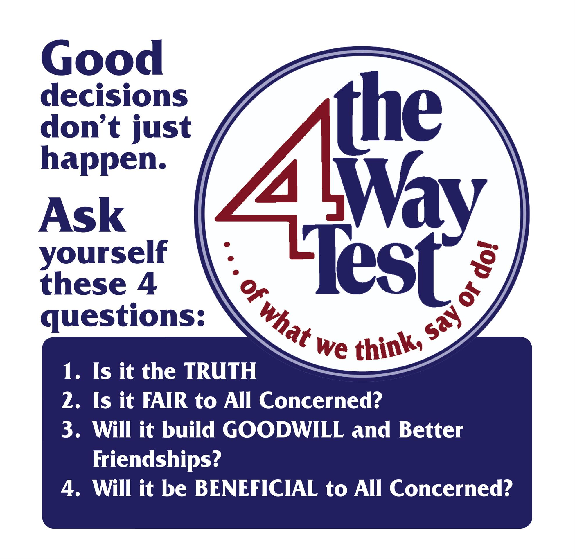 The 4-Way Test – A Challenge for the New Century