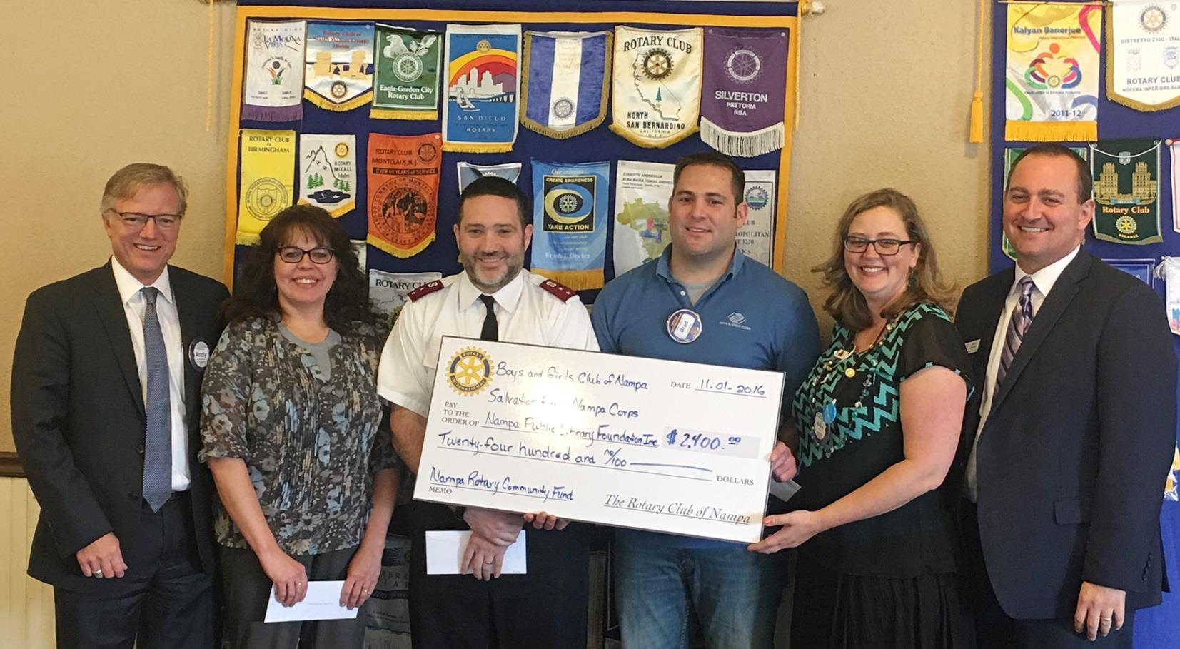 NAMPA AWARDS GRANTS TO 3 NON-PROFITS | Rotary District 5400