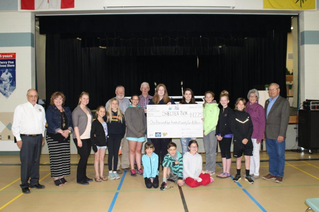 Nipawin Schools Donate to Shelterbox