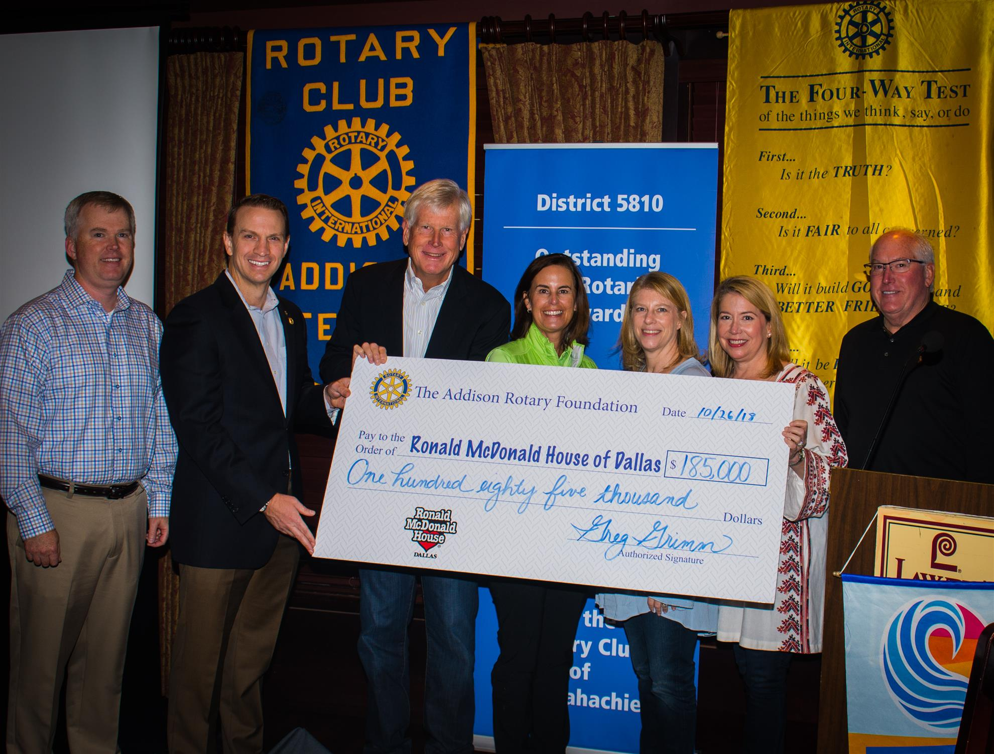 Stories Rotary District 5810 Dallas Resident Colin Stanley Hopes To Win Electric Car Contest Addison Presented A Check The Ronald Mcdonald House Of For Whopping 185000 Their Members Worked So Hard Be Able Give Much