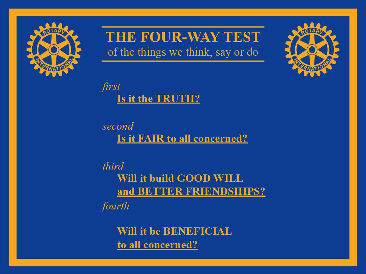 four way test