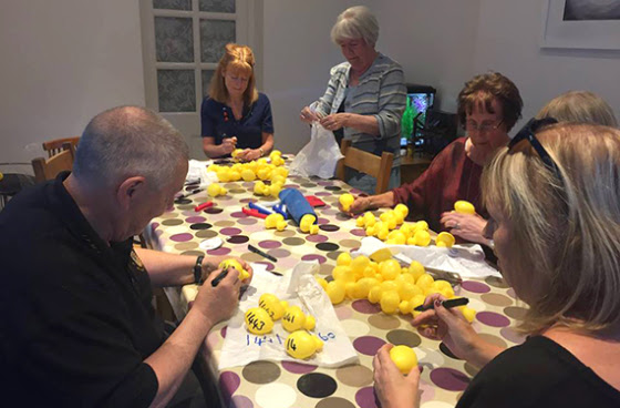 Stratford-Upon-Avon club members prepare for the Shakespeare Duck Race.