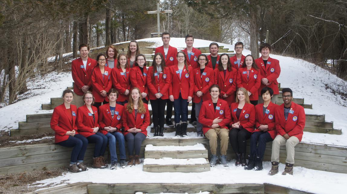 Photo of Outbound exchange students hosted by District 6330
